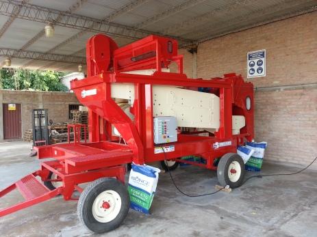 Limpiadora de semillas de zarandas móviles autolimpiantes